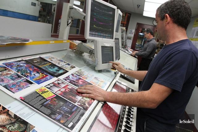 Transcontinental est le plus grand imprimeur au Canada.... (Photo Jocelyn Bernier, archives Le Soleil)