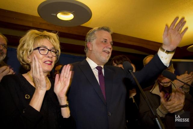 Philippe Couillard et sa conjointe ont célébré leur... (Photo: André Pichette, La Presse)