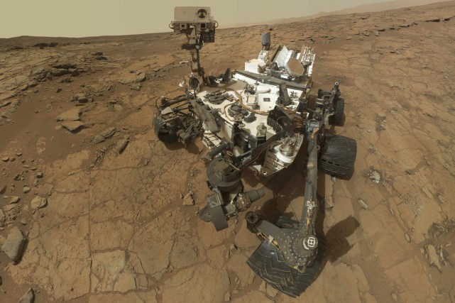 La sonde Curiosity.... (Photo fournie par la NASA)