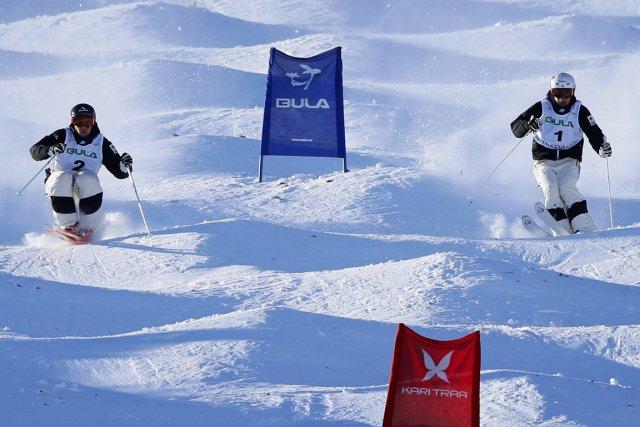 Alexandre Bilodeau et Mikaël Kingsbury ont complètement dominé... (Photo Hakon Mosvold Larsen, Reuters)