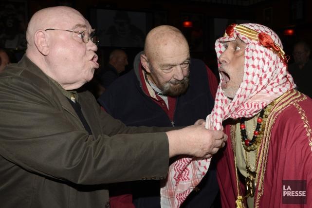 La confrérie des lutteurs s'était donné rendez-vous à... (Photo Bernard Brault, La Presse)