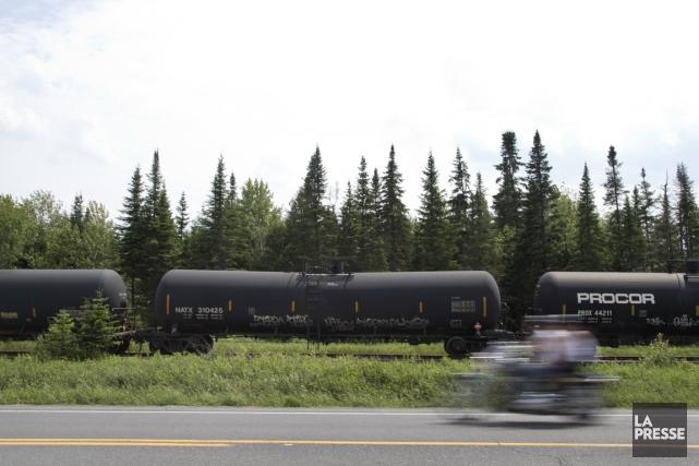 Des wagons DOT-111, impliqués dans la catastrophe de... (Photo Robert Skinner, archives La Presse)