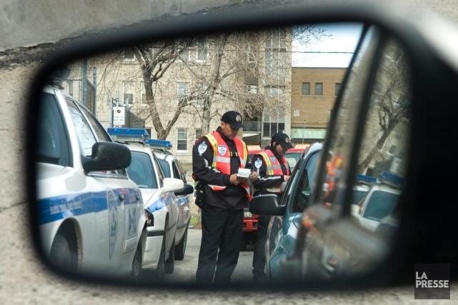 La police aurait la possibilité d'imposer des amendes pour une gamme de délits... (PHOTO IVANOH DEMERS, ARCHIVES LA PRESSE)