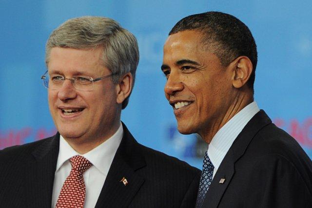 Stephen Harper et Barack Obama au Sommet de... (Photo: PC)