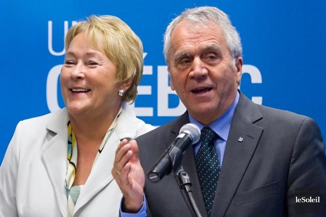 François Gendron et Pauline Marois.... (Photothèque Le Soleil)