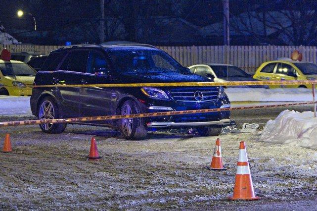 Le véhicule de la victime.... (Photo Félix-Olivier Jacques Fournier, collaboration spéciale)