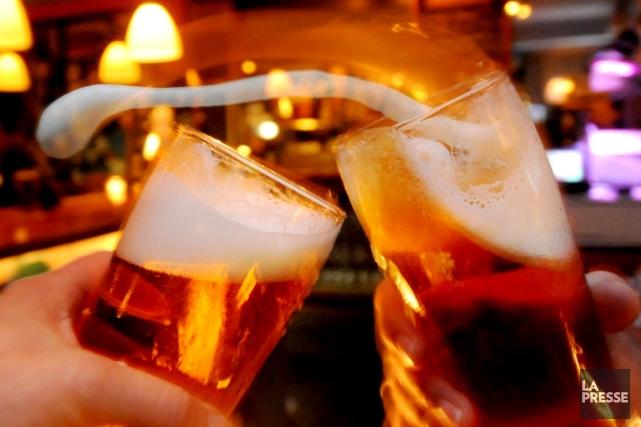 Agrumes, baies, fruits rouges... à côté des bières traditionnelles dont la... (Photothèque)