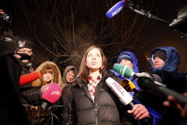 Nadejda Tolokonnikova, 24 ans, a quitté sous le... (PHOTO ILYA NAYMUSHIN, REUTERS)
