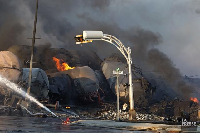 La catastrophe ferroviaire du 6 juillet 2013 à... (Photothèque La Presse)