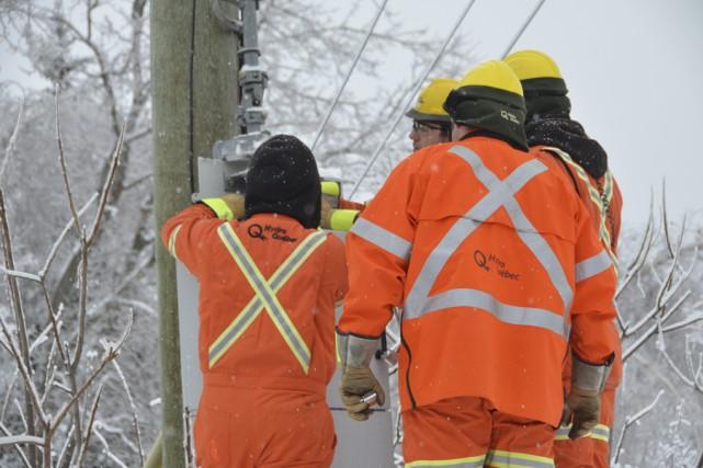 Ce sont plus de 270 employés d'Hydro-Québec qui ont dû être mobilisés à Noël et... (Photo d'archives)