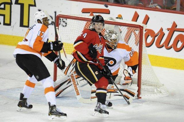 Brayden Schenn a récolté un but et deux passes alors que les Flyers de... (Photo USA Today Sports)
