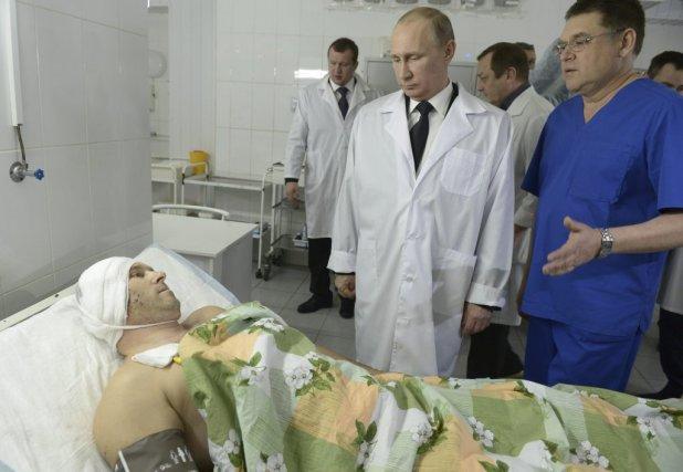 Le président russe Vladimir Poutine a visité à... (ALEKSEY NIKOLSKYI)