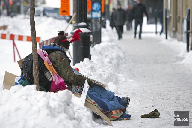 Environnement Canada a émis un avertissement de froid... (PHOTO ROBERT SKINNER, LA PRESSE)