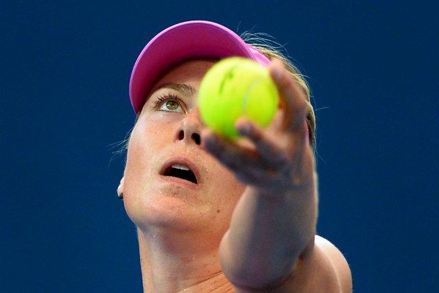 En demi-finale, Sharapova aura rendez-vous avec la gagnante... (Photo WILLIAM WEST, AFP)