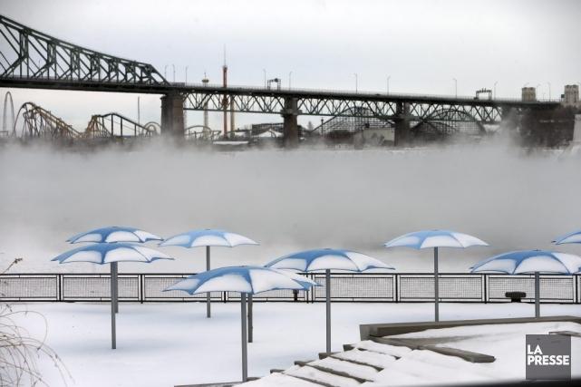 À Montréal, le mercure n'a pas été en... (Photo Martin Chamberland, La Presse)
