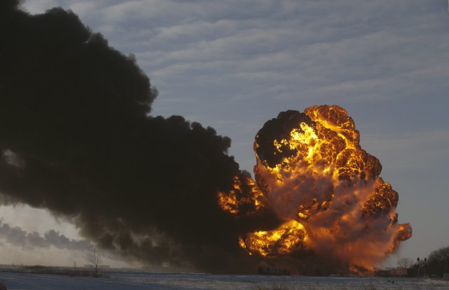 L'incident de Casselton n'a heureusement pas fait de... (Photo Bruce crummy, Associated Press)