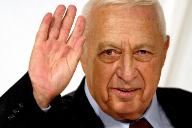 L'ancien premier ministre israélien Ariel Sharon, photographié en... (PHOTO ARCHIVES REUTERS)