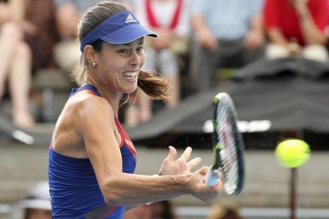 Former world number one Ana Ivanovic plays a... (Photo Fiona GOODALL, AFP)