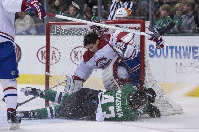 En deuxième période, l'attaquant des Stars de Dallas,... (Photo Jerome Miron, USA TODAY Sports)