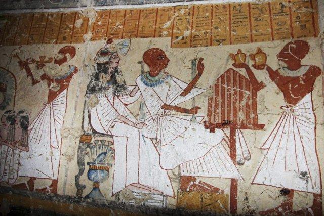 Un des murs montre le chef des brasseurs,... (Photo AP)