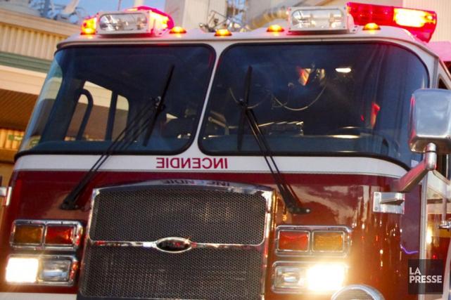 La cause de l'incendie n'est pas encore connue.... (Photo archives La Presse)