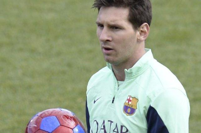 Lionel Messi n'est pas dans le groupe pour... (PHOTO LLUIS GENE, AFP)