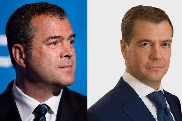 Alain Vigneault et Dmitri Medvedev...