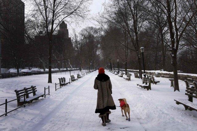 La neige qui a recouvert le nord-est des... (PHOTO MIKE SEGAR, REUTERS)