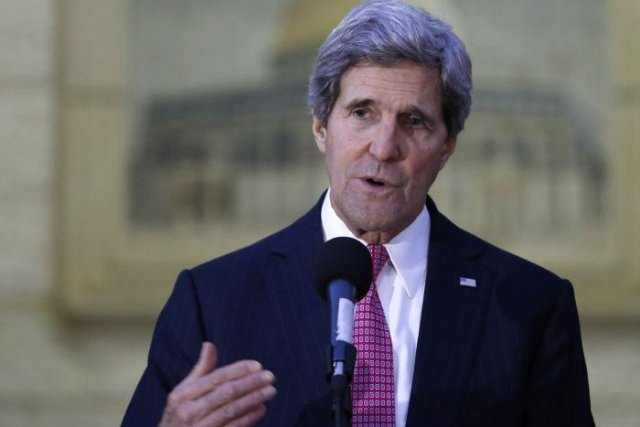 John Kerry... (PHOTO MOHAMAD TOROKMAN, REUTERS)