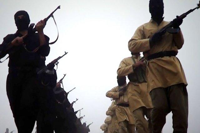 Image vidéo decombattants de l'État islamique en Irak... (Photo AFP)