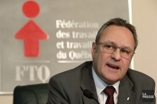 DanielBoyer, devenu président de la Fédération des travailleurs... (PHOTO Robert Skinner, La Presse)