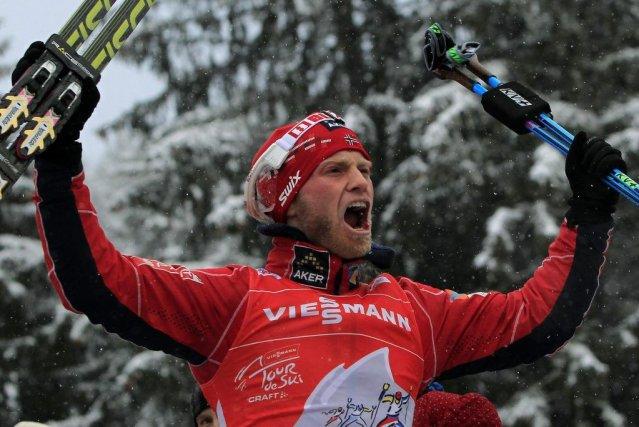 Martin Johnsrud Sundby est monté sur la plus... (PHOTO ALESSANDRO GAROFALO, REUTERS)