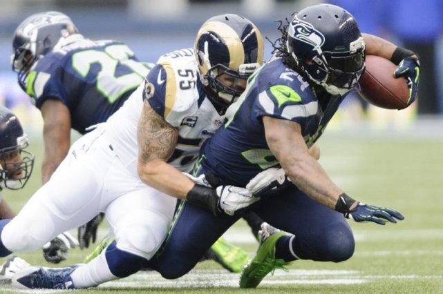 Le demi-offensif des Seahawks avait refusé toutes les... (Photo Steven Bisig, USA TODAY Sports)
