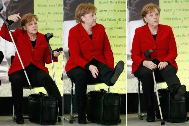 En avril 2011, la chancelière allemande se déplaçait... (PHOTO THOMAS PETER, ARCHIVES REUTERS)
