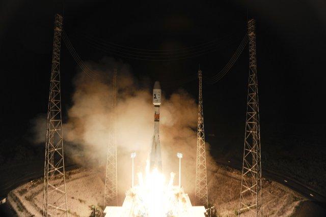 La plate-forme de lancement française en Guyane.... (Photo STEPHANE CORVAJA, AFP)