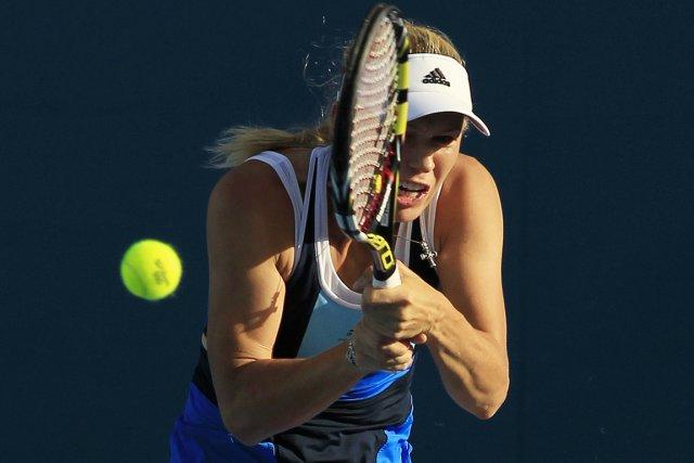Caroline Wozniacki... (Photo Daniel Munoz, AP)