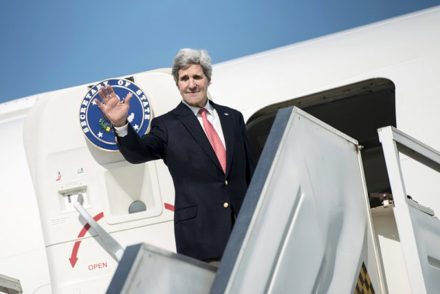 Le secrétaire d'État américain John Kerry a bouclé... (PHOTO BRENDAN SMIALOWSKI, REUTERS)
