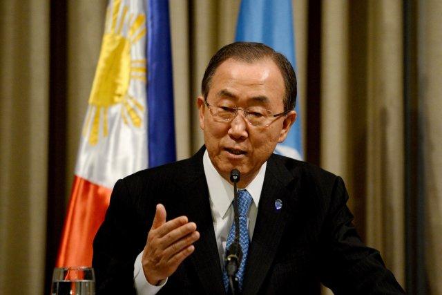 Le secrétaire général Ban Ki-moon «souhaite inviter l'Iran»,... (PHOTO NOEL CELISO, ARCHIVES AFP)