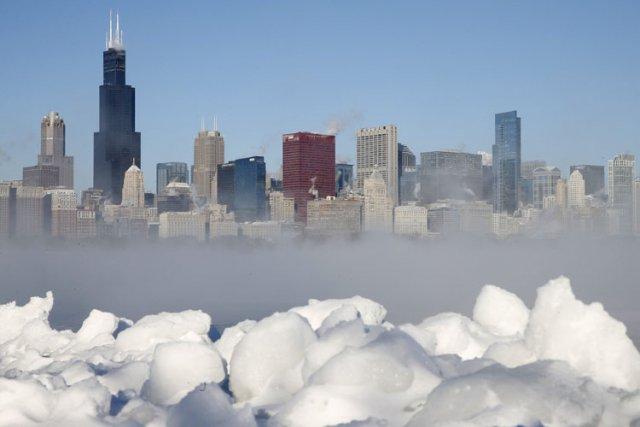 Cette vague de froid polaire, inédite depuis 20... (Photo: Reuters)