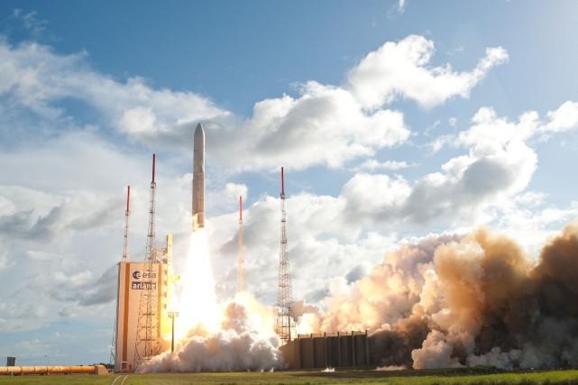 Arianespace, qui réalise plus de la moitié des... (PHOTO AFP)