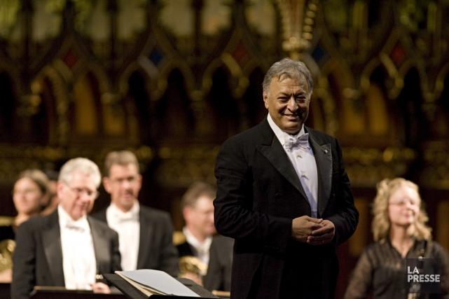 Le chef d'orchestre Zubin Mehta était venu diriger... (Photo: François Roy, archives La Presse)