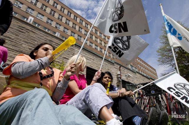 Des manifestations contre la réforme de l'assurance-emploi avaient... (Photo David Boily, Archives La Presse)