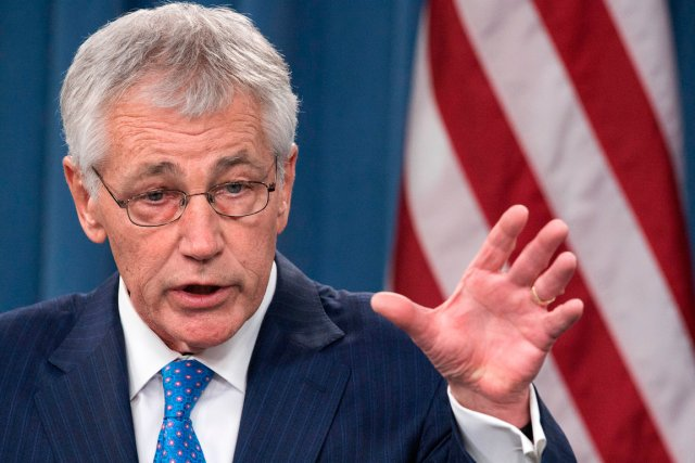Le chef du Pentagone Chuck Hagel.... (PHOTO PAUL J. RICHARDS, ARCHIVES AFP)