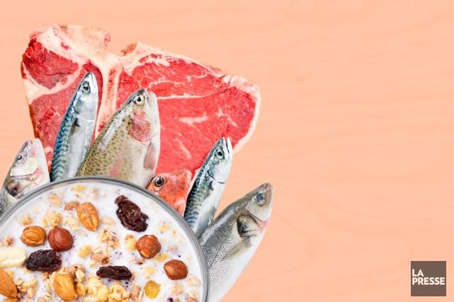Près de 20% des aliments et boissons mis en marché aux États-Unis en 2012... (Photomontage La Presse)