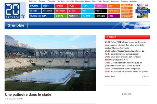 L'édition locale de 20 Minutes à Grenoble a été arrêtée depuis lundi...