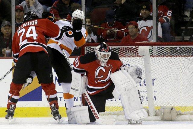 Brayden Schenn a réglé le débat à 1:50 en prolongation et les Flyers de... (Photo: AP)