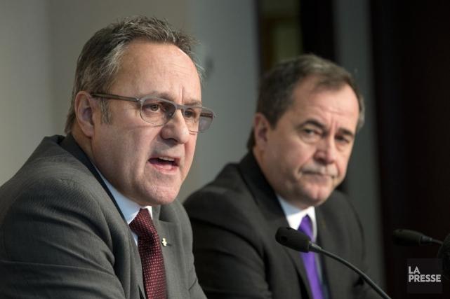 Le président de la FTQ, Daniel Boyer, et... (Photo: Robert Skinner, La Presse)