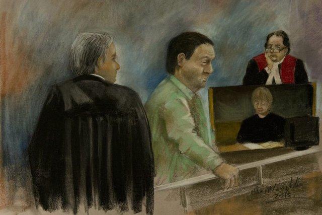 L'ancien enquêteur du SPVMBenoît Roberge est soupçonné d'avoir... (Dessin La Presse Canadienne)