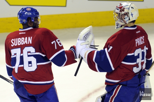 P.K. Subban et Carey Price font partie des... (Photo Bernard Brault, archives La Presse)