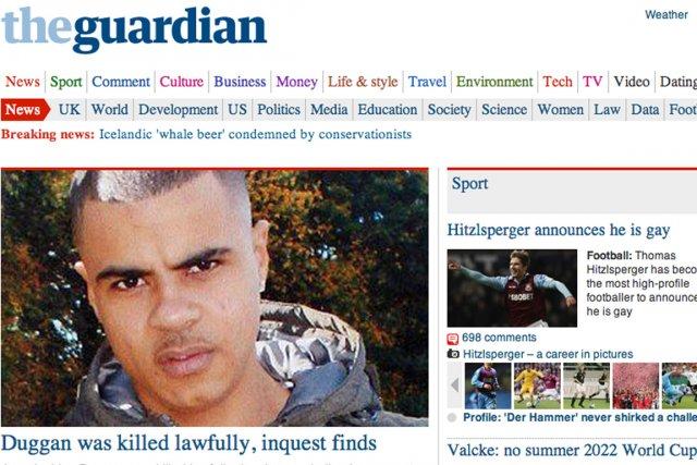 L'accès au site internet du journal britannique The Guardian est...